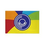 Occupy Wall Street Flag Rectangle Magnet (10 pack)