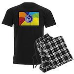 Occupy Wall Street Flag Men's Dark Pajamas