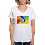 Occupy Wall Street Flag Women's V-Neck T-Shirt
