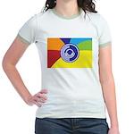Occupy Wall Street Flag Jr. Ringer T-Shirt