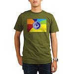 Occupy Wall Street Flag Organic Men's T-Shirt (dar