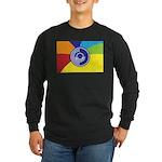 Occupy Wall Street Flag Long Sleeve Dark T-Shirt