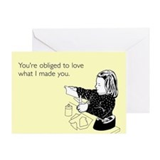 Obliged To Love Me Greeting Card