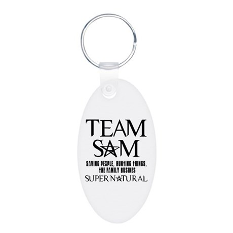 Team Sam Supernatural Aluminum Oval Keychain
