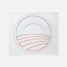 Obama Slim Logo Throw Blanket