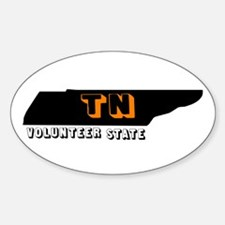 TN VOLUNTEER STATE Oval Decal