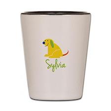 Sylvia Loves Puppies Shot Glass