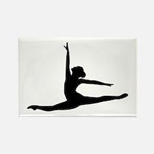 Ballet Dancer Ballerina Rectangle Magnet