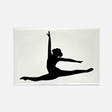 Ballet Dancer Ballerina Rectangle Magnet (100 pack