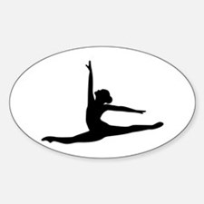 Ballet Dancer Ballerina Sticker (Oval)