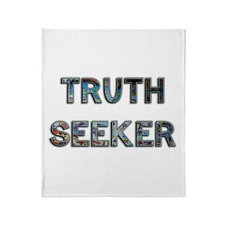 Truth Seeker Throw Blanket