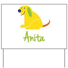 Anita Loves Puppies Yard Sign