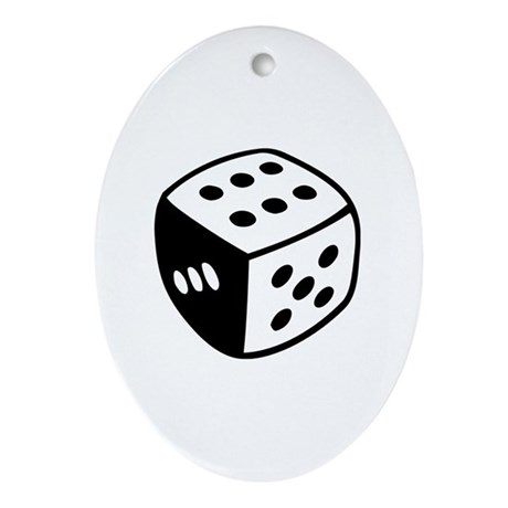 Dice Ornament (Oval)