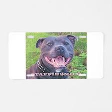 Cute Staffordshire terrier Aluminum License Plate