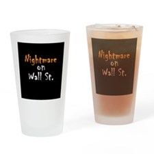 Nightmare on Wall St. Drinking Glass