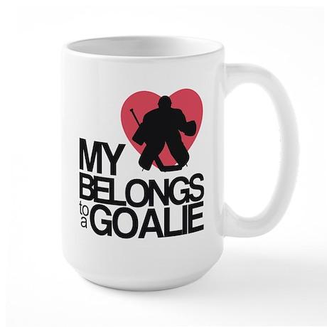 Belongs to a Goalie Large Mug