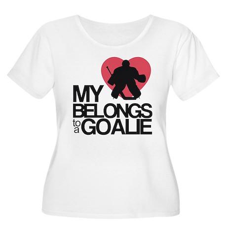 Belongs to a Goalie Women's Plus Size Scoop Neck T