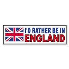 ENGLISH BUMPER_001 Bumper Car Sticker