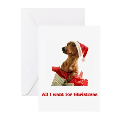All I want for Christmas Greeting Cards (Pk of 10)