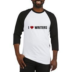I Heart Writers Baseball Jersey