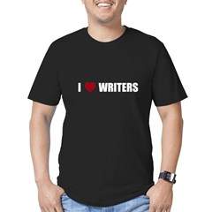 I Heart Writers Men's Fitted T-Shirt (dark)