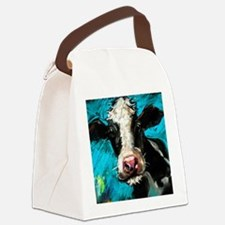 Cow Painting Canvas Lunch Bag