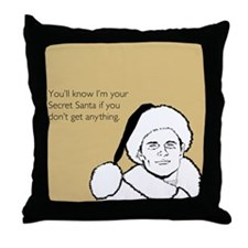 Giftless Secret Santa Throw Pillow