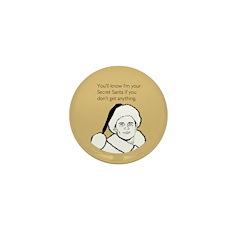 Giftless Secret Santa Mini Button