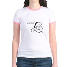 Giftless Secret Santa Jr. Ringer T-Shirt