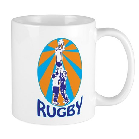 rugby line out Mug