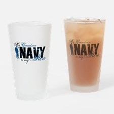 Grandson Hero3 - Navy Drinking Glass