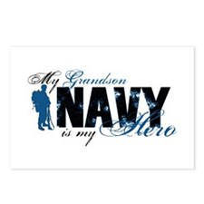 Grandson Hero3 - Navy Postcards (Package of 8)