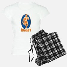 rugby player retro Pajamas