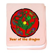 Multicolor Year of the Dragon baby blanket