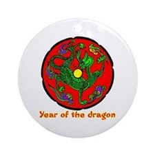 Multicolor Year of the Dragon Ornament (Round)