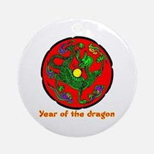 Multicolor Year of the Dragon Ornament (Round)