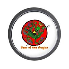 Multicolor Year of the Dragon Wall Clock