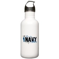 Grandpa Hero3 - Navy Water Bottle
