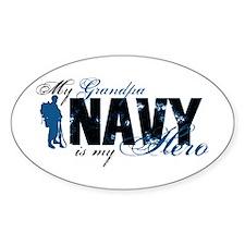 Grandpa Hero3 - Navy Decal