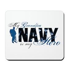 Grandpa Hero3 - Navy Mousepad