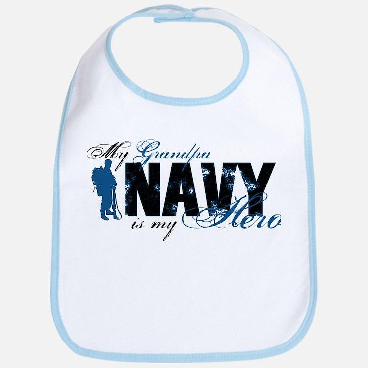 Grandpa Hero3 - Navy Bib