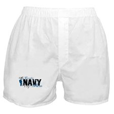 Grandpa Hero3 - Navy Boxer Shorts