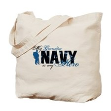 Grandpa Hero3 - Navy Tote Bag