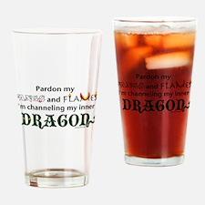 Queen of Snark Drinking Glass