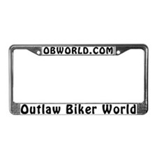 Cute World of outlaws License Plate Frame
