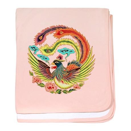 Asian Dragon or Phoenix baby blanket