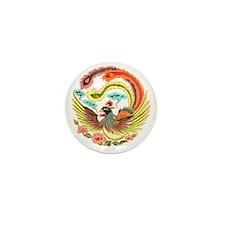 Asian Dragon or Phoenix Mini Button