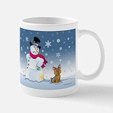 Yorkshire Terrier and Snowman Mug