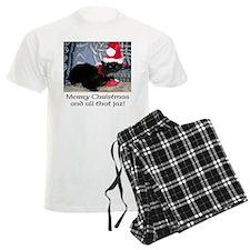 Santa Kitty 2 pajamas