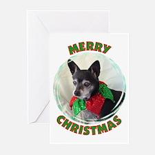 Merry Christmas W/Black Chihu Greeting Cards (Pk o